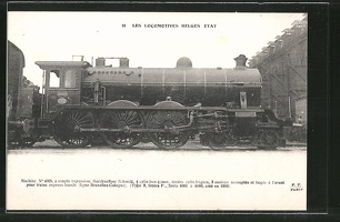 AK-Les-Locomotives-Belges-Etat-Machine-No-4025-Dampflok